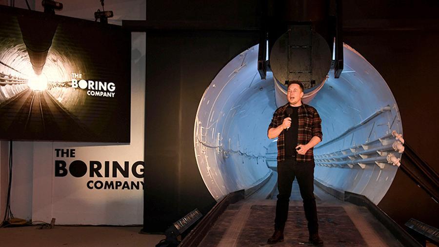 Илон Маск открыл первый подземный тоннель под Лос-Анджелесом