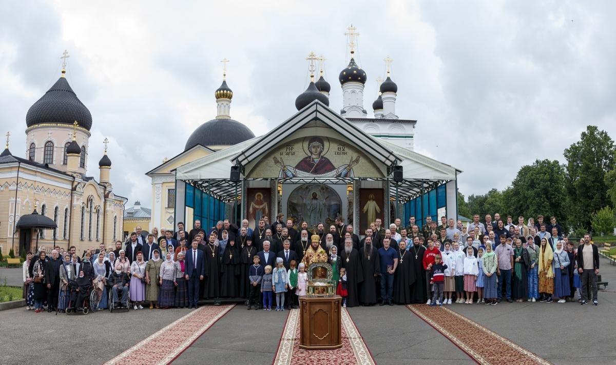 Торжественные мероприятия по случаю 800-летия со Дня рождения Александра Невского в Вознесенской Давидовой пустыни