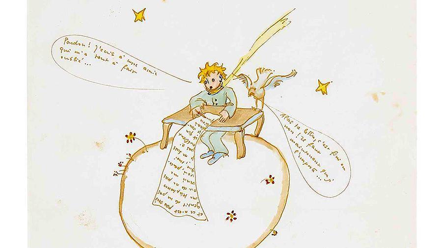 Рисунок из любовного письма Экзюпери продан почти за $300 тыс.