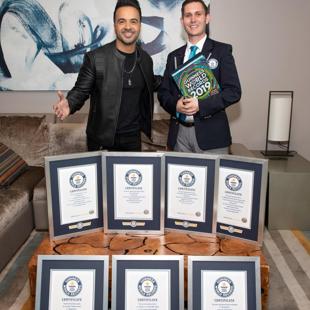 Despacito дали семь титулов в Книге рекордов Гиннесса