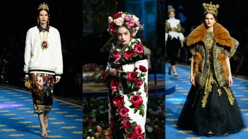 Героини опер на закрытом показе в  Dolce & Gabbana