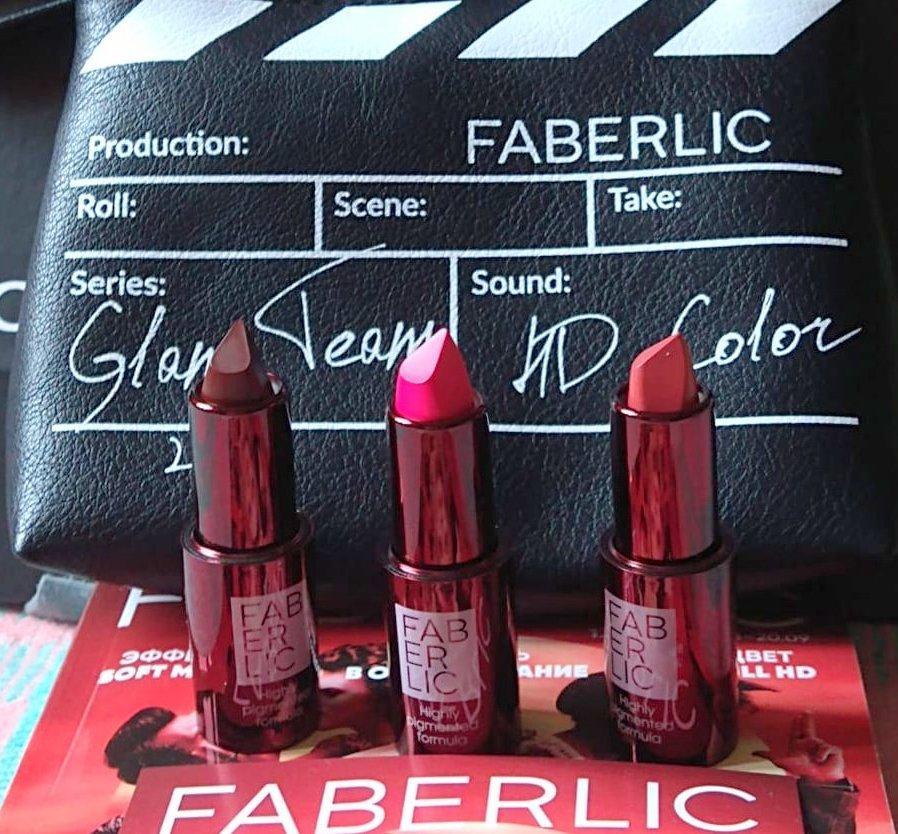 «Ярче любого сюжета!» - эксклюзивные оттенки помады HD Color линии Glam Team от Faberliс