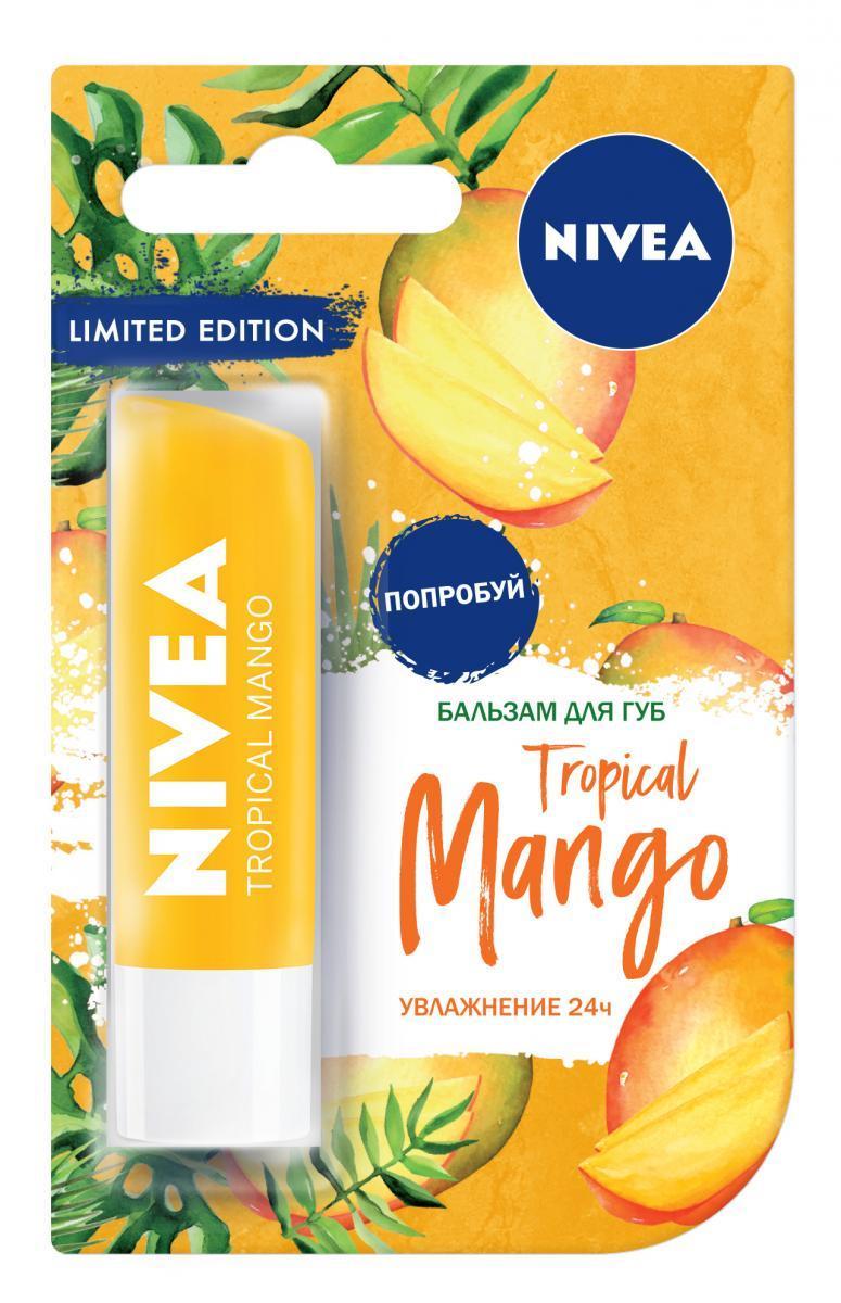 Почувствуй лето на губах вместе с Nivea: бальзам «Тропический манго»