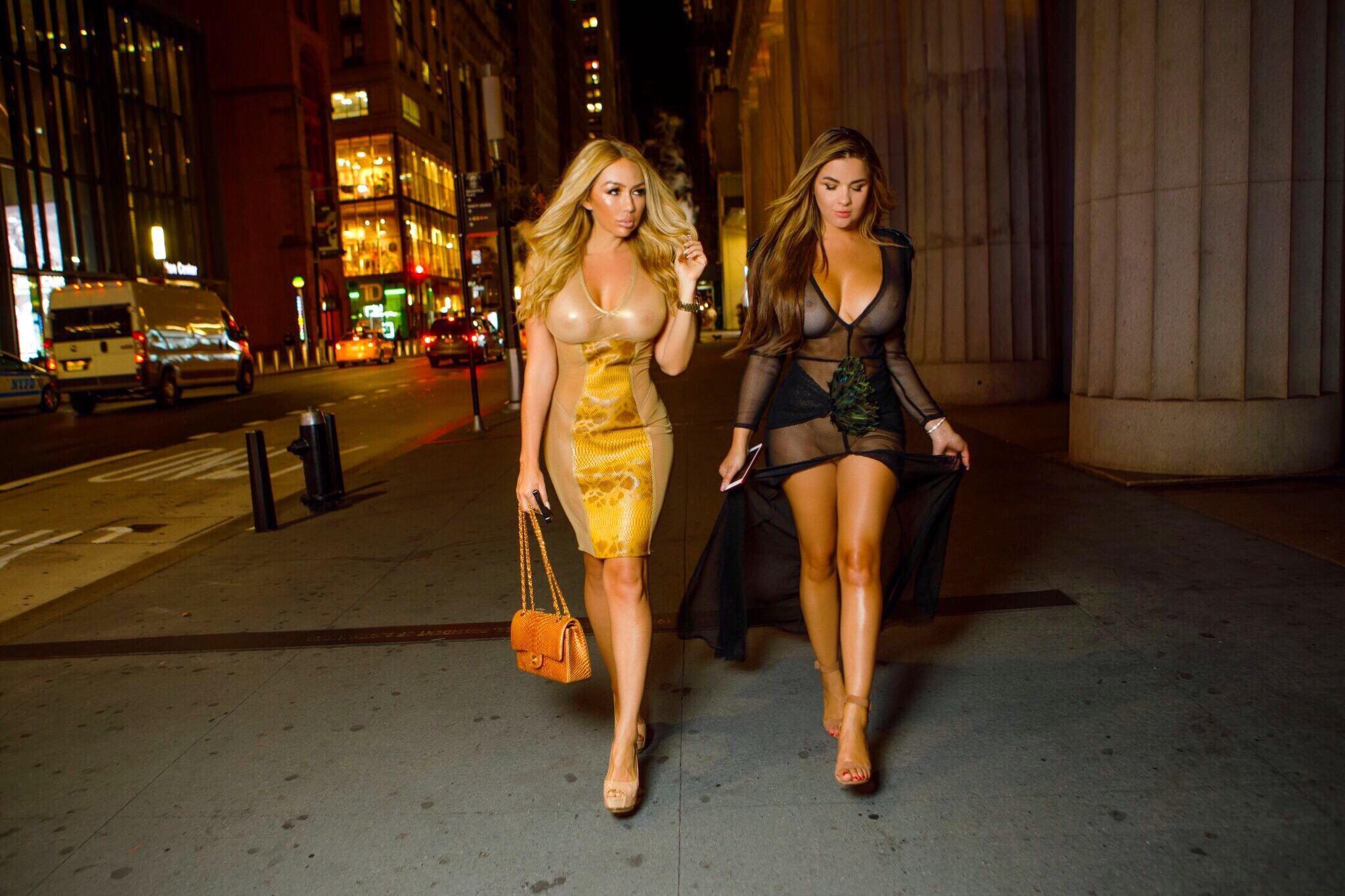 Элия Чоколато и Анастасия Квитко на Неделе Моды в Нью-Йорке