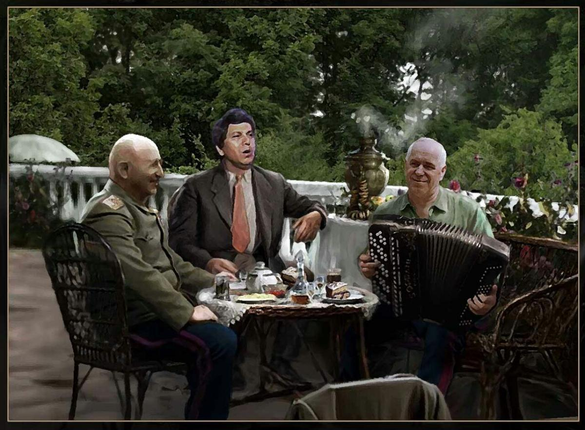 «Болгарии русский солдат», - Бедрос Киркоров, Георгий Жуков и Иван Баграмян исполняют «Алёшу»