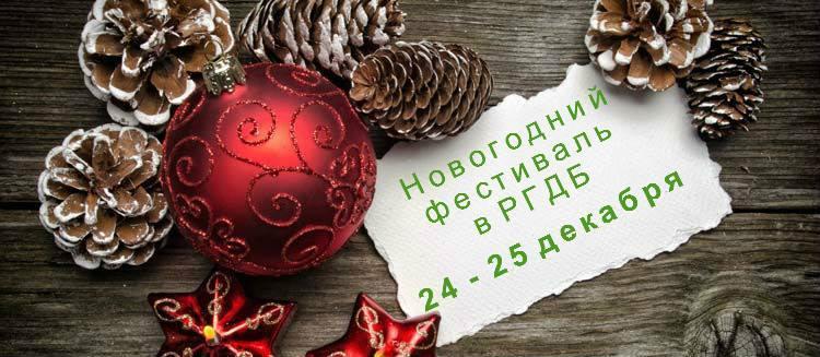 Новогодний фестиваль в РГДБ