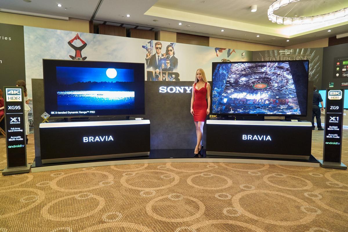 Sony впервые показала 8К HDR телевизор в России