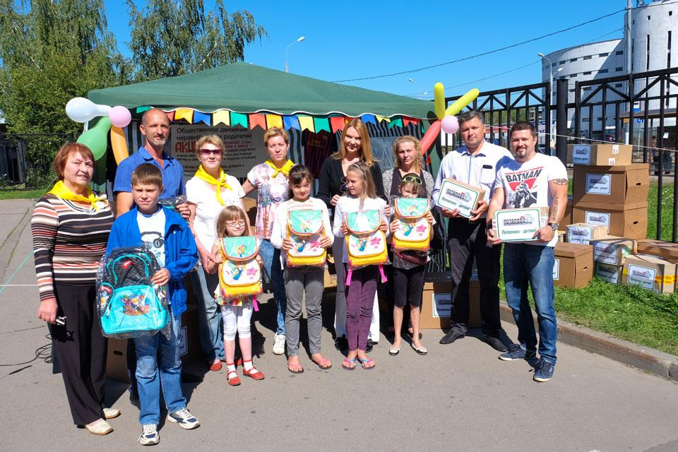 Певица Варвара собрала первоклассников в школу