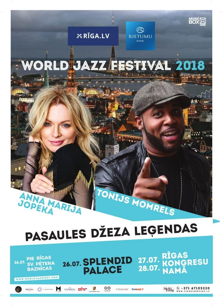 Юбилейный World Jazz Festival откроют вокалистка Анна Мария Йопек и британский соул-певец Тони Момрелл