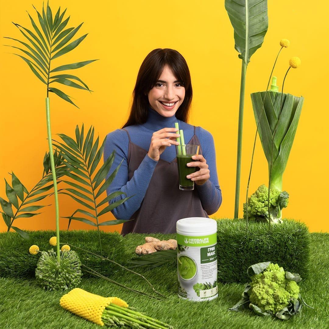 Грин Макс Select – первый зеленый коктейль с суперфудами от Herbalife Nutrition