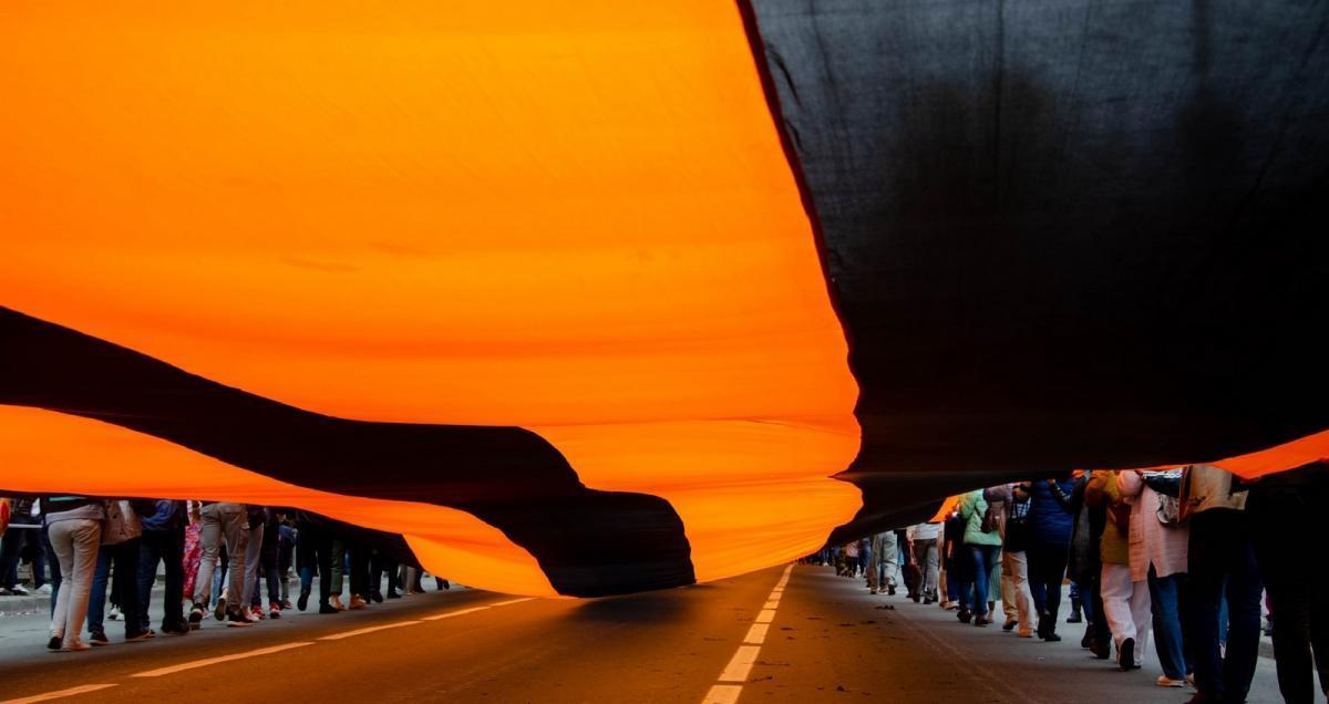 На ВДНХ развернут самую большую в мире Георгиевскую ленту