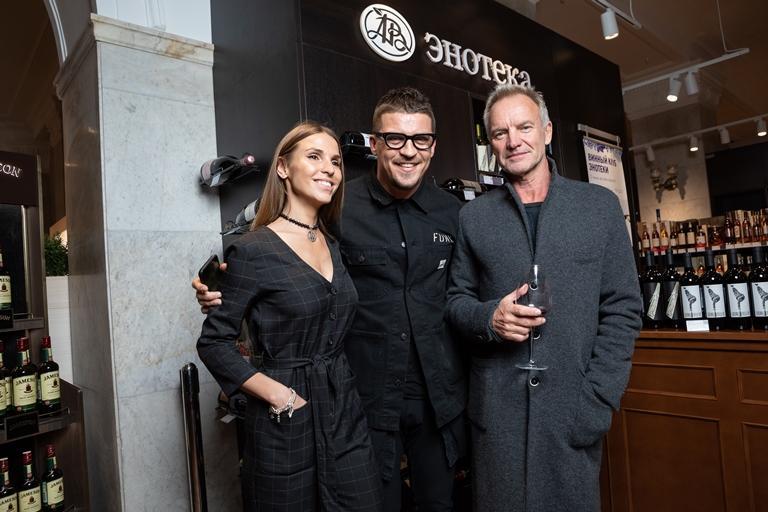 Стинг и Шэгги отпраздновали окончание Российского тура в винном клубе