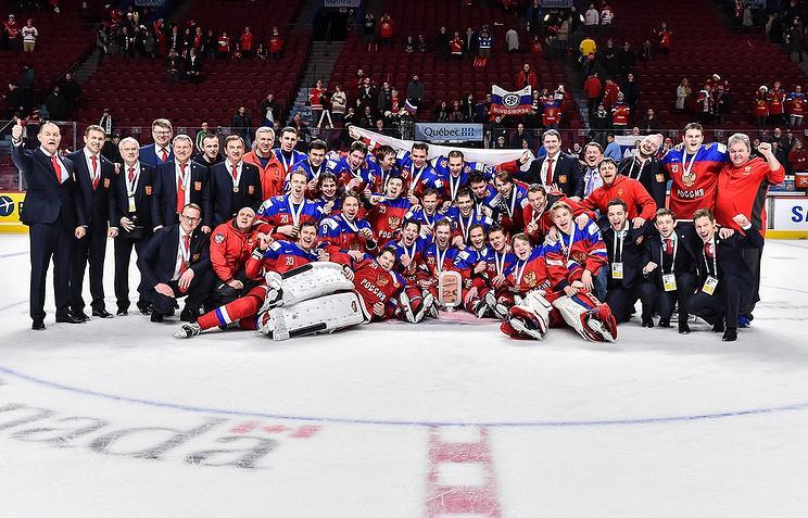 Первая бронза Брагина: хоккеисты РФ стали третьими на молодежном ЧМ-2017
