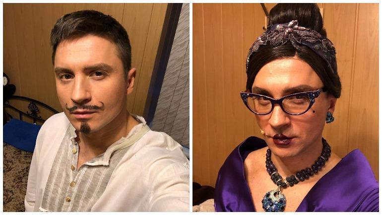 Сергей Лазарев надел платье и сделал макияж ради театральной постановки