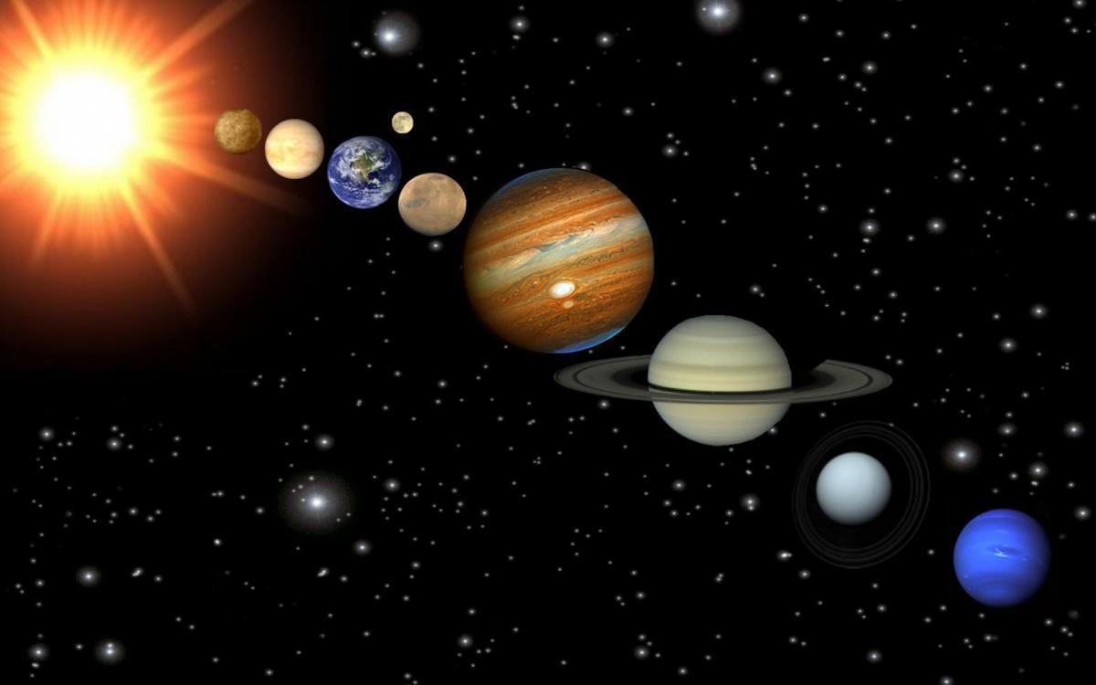 Жители Земли наблюдают Парад планет