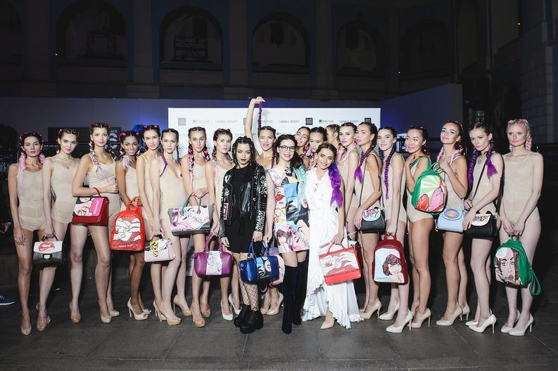 Анна Хилькевич стала звездой показа Anna Wolf на Неделе Моды
